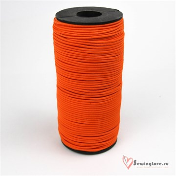Резинка TBY шляпная (шнур круглый) Оранжевый, 2 мм