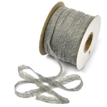 Лента нитепрошивная клеевая по косой с нитью 12 мм, серый