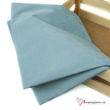 Ткань курточная LOKKER с эффектом замши. Голубой камень