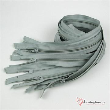 Молния пластиковая спираль Серый