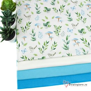Интерлок Голубой сад
