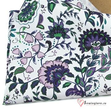 Курточная ткань Мембрана 5к/5к Цветы лиловые