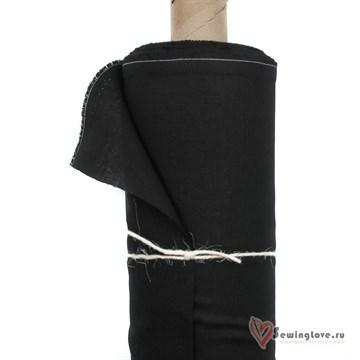 Лён костюмный Чёрный