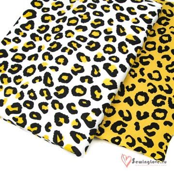 Интерлок Леопардовые пятна (на белом)