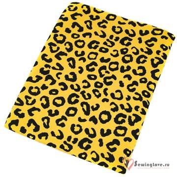 Интерлок Леопардовые пятна (фон мимоза)