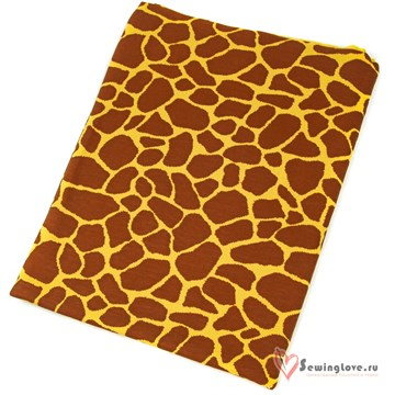 Интерлок Жираф (фон мимоза)