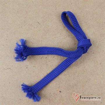 Плоский плетельный шнур, 12 мм, Василёк