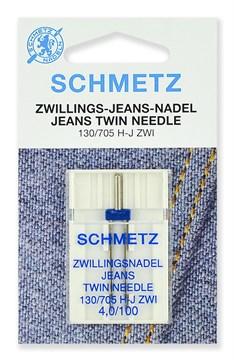 Иглы для джинсы двойные,Schmetz,130/705H-J ZWI № 100/4.0