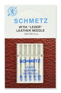 Иглы для кожи,Schmetz,130/705H LL № 80(2),90(2),100