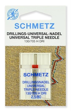 Иглы стандартные тройные,Schmetz,130/705H DRI № 80/2.5