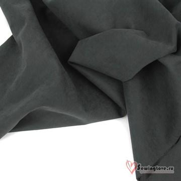 Ткань курточная LOKKER с эффектом замши. Угольный