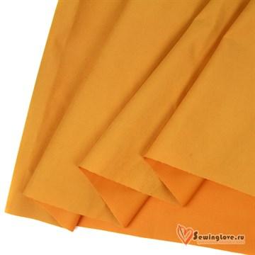 Ткань курточная Твил с Peach эффект. Яркая горчица