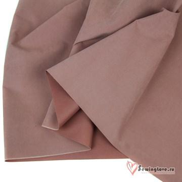 Ткань курточная Твил с Peach эффект. Пыльный розовый