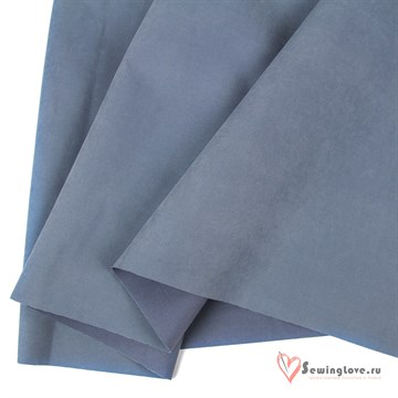 Ткань курточная Твил с Peach эффект. Пыльный голубой