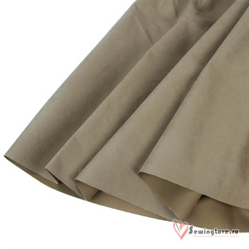 Ткань курточная Твил с Peach эффект. Сухой шалфей