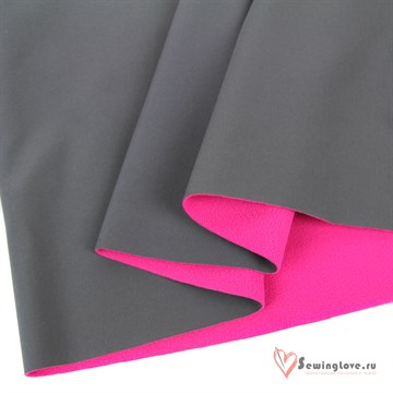 Ткань курточная COMFORT PLUS Серый/розовый