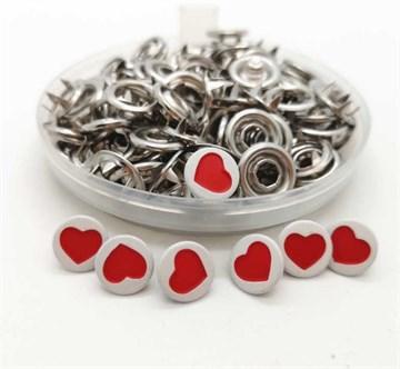 Кнопка рубашечная 9,5 мм Сердце
