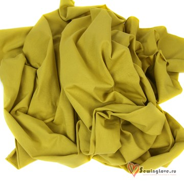 Кулир с лайкрой Пыльный жёлтый