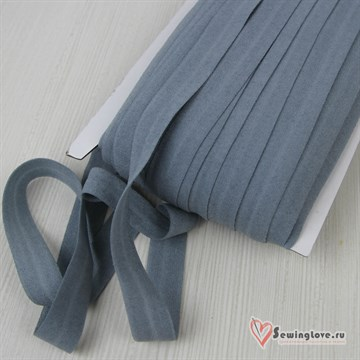 Резинка TBY окантовочная матовая 15 мм, Серо-голубой