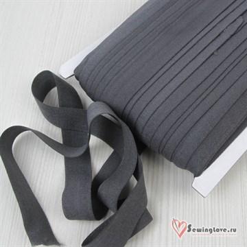 Резинка TBY окантовочная матовая 15 мм, Тёмно-серый