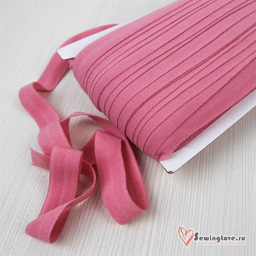 Резинка TBY окантовочная матовая 15 мм, Пыльный розовый