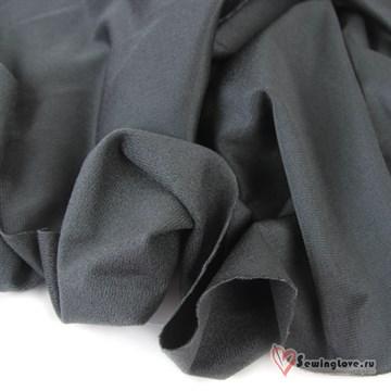 Ворсовый трикотаж (каризма) Тёмно-серый