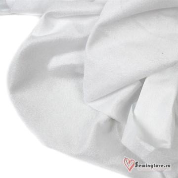 Ворсовый трикотаж (каризма) Белый