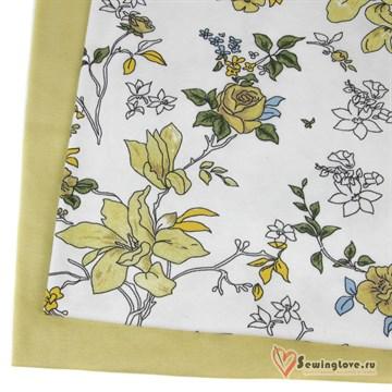 Интерлок Цветы жёлтые