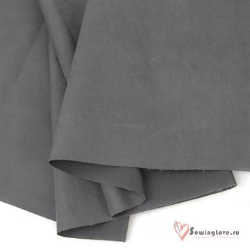 Ткань курточная Твил с Peach эффект. Серый