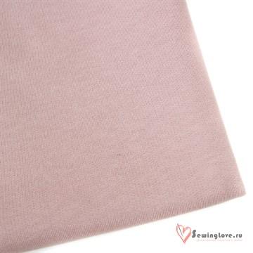 Рибана Розовая дымка к футеру 3-х петле (плотная 420 гр)