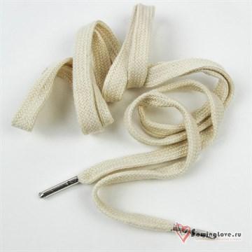 Шнурок плоский Светло-бежевый ш. 10 мм, 130 см