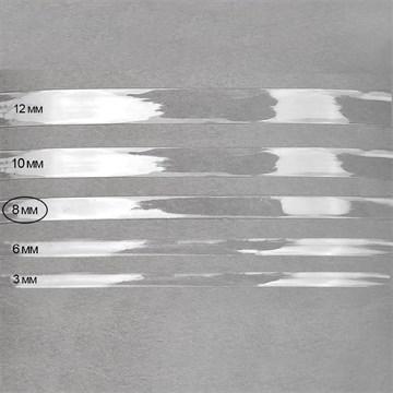 Лента силиконовая блестящая 8 мм