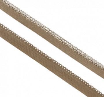 Резинка TBY бельевая, 10 мм Св.коричневый
