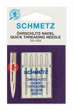 Иглы легковдеваемые QUICK THREADING,Schmetz,705 HDK №80