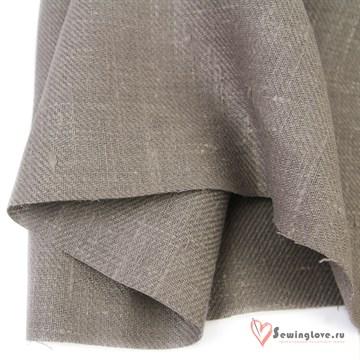 Ткань Лён костюмный Дымка, 100% лён, саржа