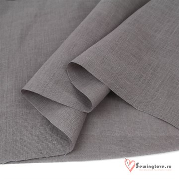 Ткань Лён костюмный Серый цинковый, 100% лён