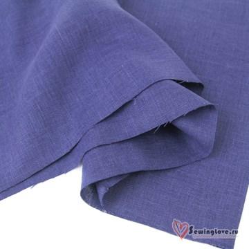 Ткань Лён костюмный Джинс, 100% лён