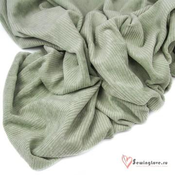 Трикотажный вельвет Зелёный шалфей