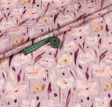 Перкаль Акварельные цветы 100%хб