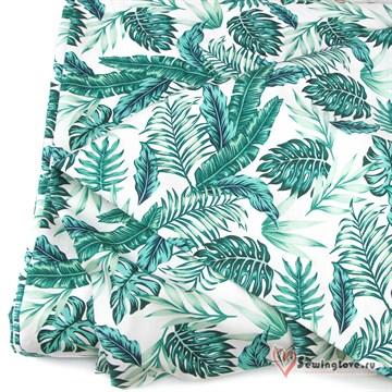 Перкаль Тропические листья 100%хб