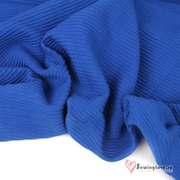 Футер жаккард (имитация муслина) Синий