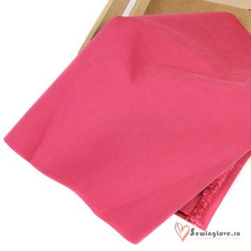 Ткань курточная Твил с Peach эффект. Кармин