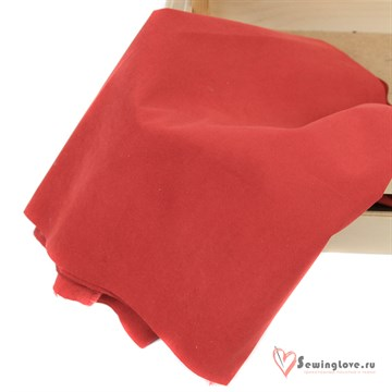 Ткань курточная Твил с Peach эффект. Красный