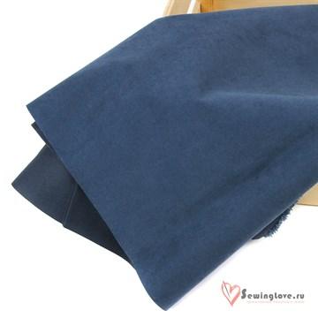 Ткань курточная Твил с Peach эффект. Тёмно-синий