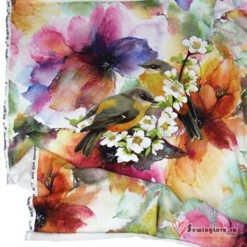 Кулир Птицы в цветах, купон