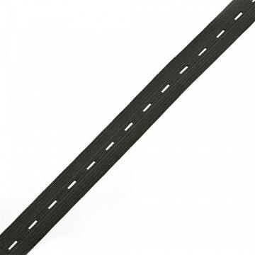Резинка вязаная перфорированная, 25 мм, Черный