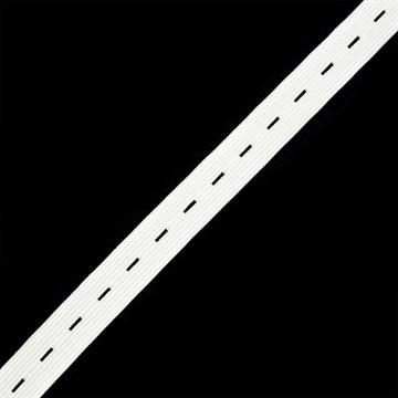 Резинка вязаная перфорированная, 25 мм, Белый