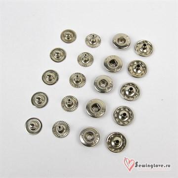 Кнопка сталь Alfa 15 мм, Никель