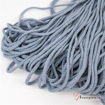 Шнур плетеный круглый 6 мм, Голубой