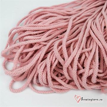 Шнур плетеный круглый 6 мм, Светло-розовый